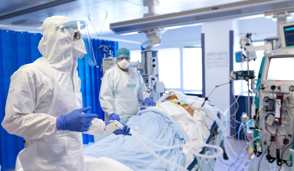 Patient being treated in ICU