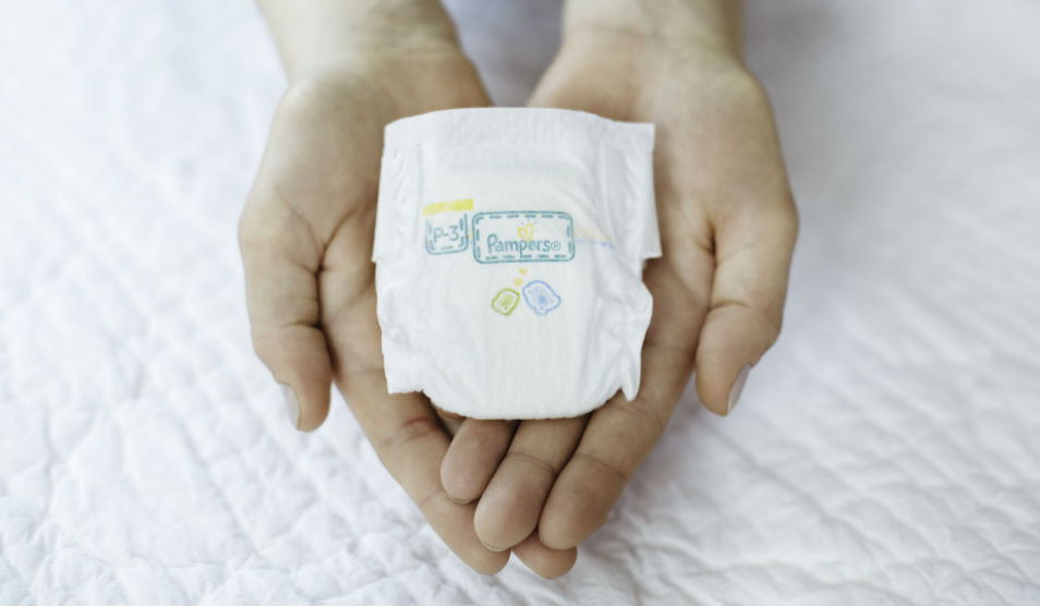 Pampers neo-natal nappy
