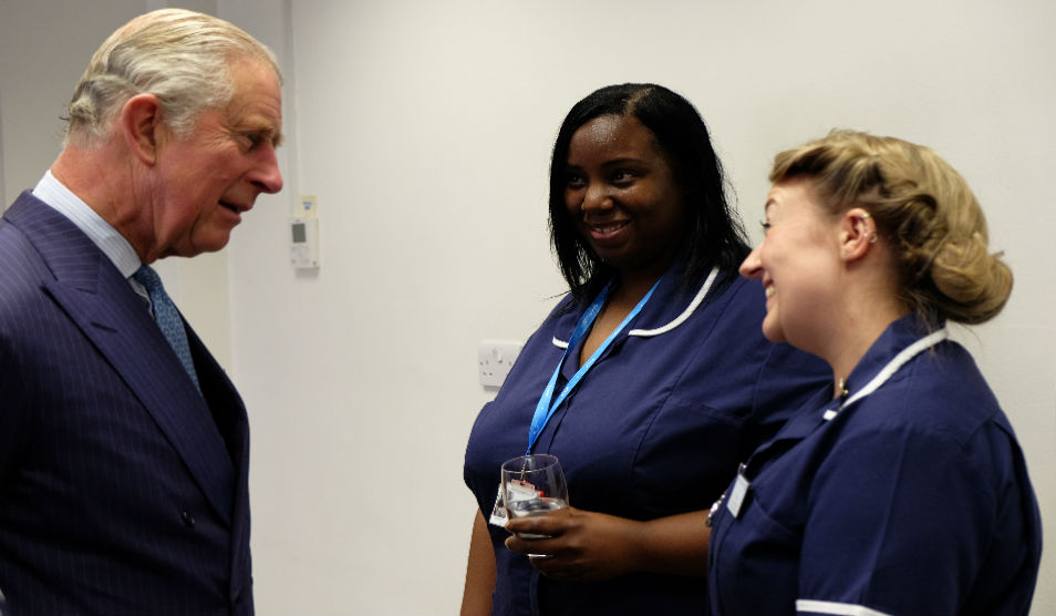 The Prince of Wales meets Nursing Times Awards nominees