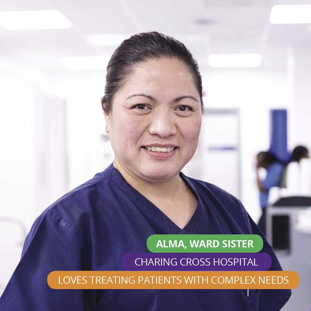 Alma, ward sister, emergency department, Charing Cross Hospital