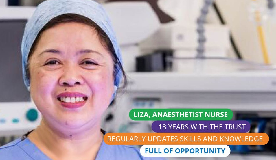 Portrait of Liza an anaesthetist nurse