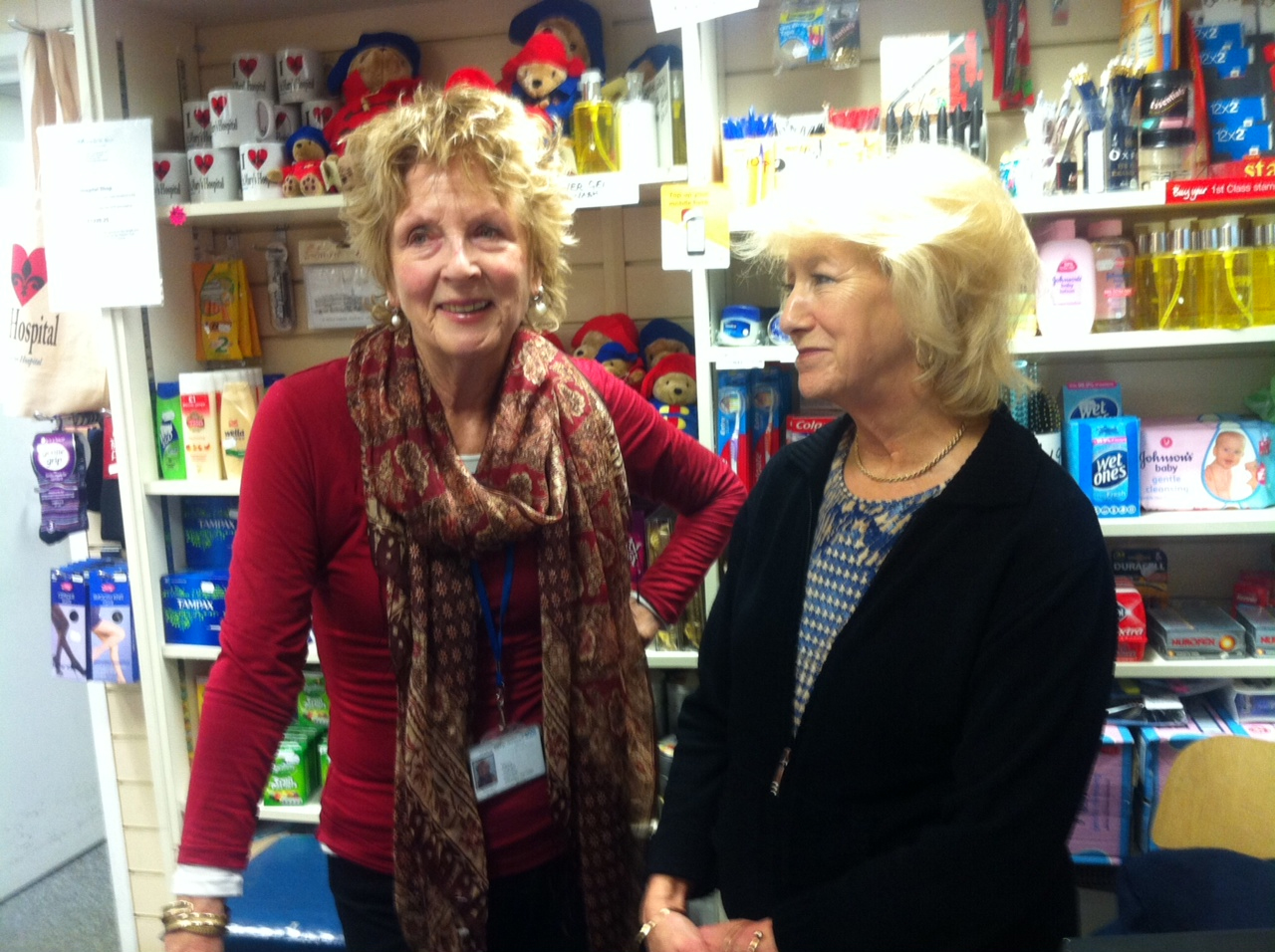 Penny and Barbara, Friends of St Mary's Hopsital