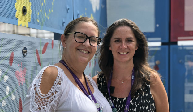Karen Platonos, lactation consultant, and Annie Aloysius, clinical speech and language therapist in neonatology, at Queen Charlotte's & Chelsea Hospital