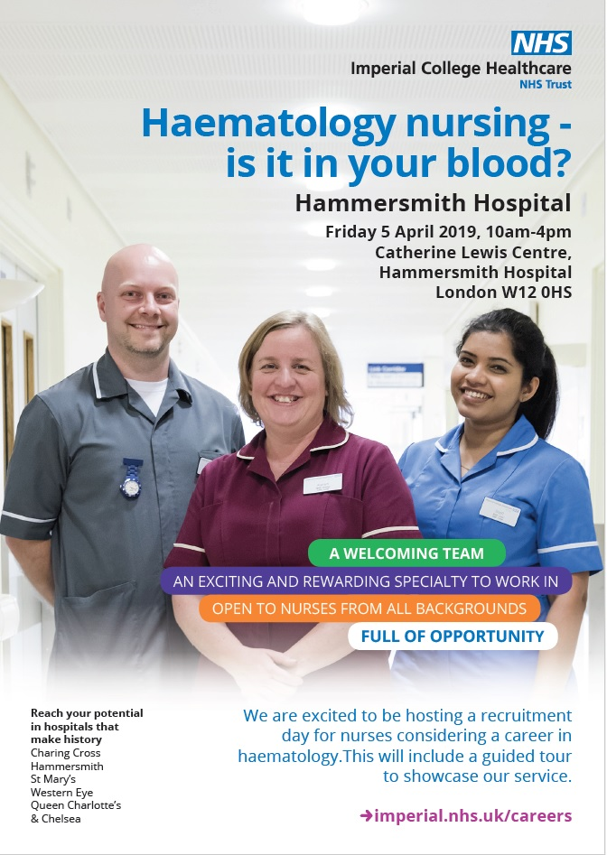 Haematology open day 5 April 2019 is it in your blood?