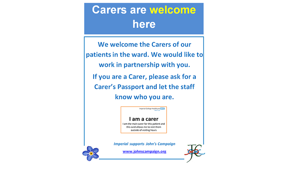 Carers are welcome here