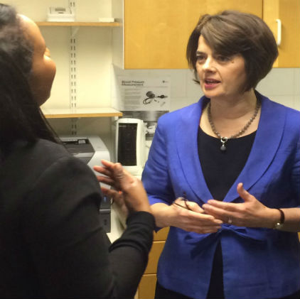 Jane Ellison visits African Well Woman Clinic